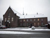 Winter in Breda. Het Klooster Breda in de sneeuw