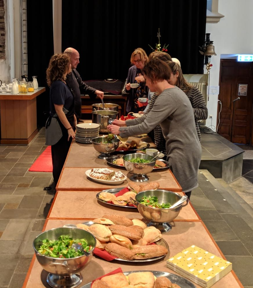 Catering in de kerk